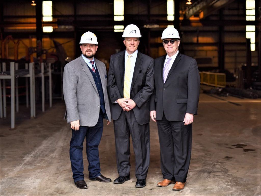 AKRON MAYOR DAN HORRIGAN TOURS AKRON REBAR COMPANY FACILITY AS COMPANY RAMPS UP OPERATIONS WITH MULTI MILLION DOLLAR FABRICATION EQUIPMENT INVESTMENT}